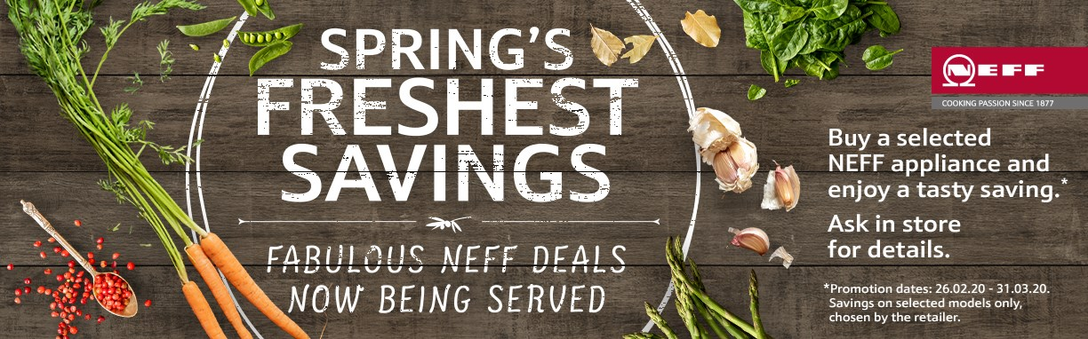 NEFF Spring Sale Cardiff, Penarth, Barry & Newport